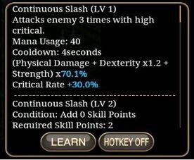 Continuous Slash