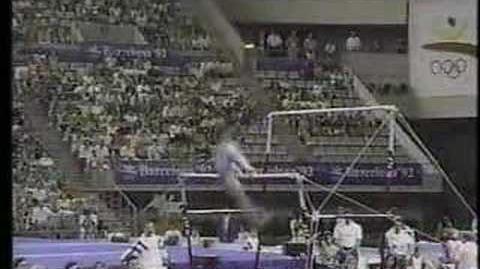 Lu Li - 1992 Olympics EF - Uneven Bars