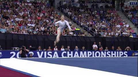 Aly Raisman - Floor - 2012 Visa Championships - Sr Women - Day 2
