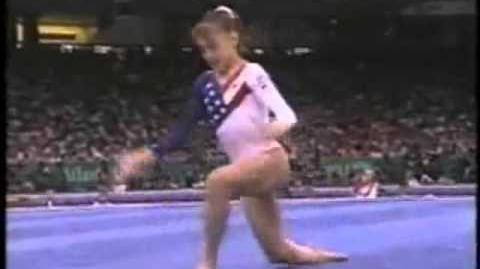 Dominique Moceanu (USA) Team Optionals 1996 Olympics FX