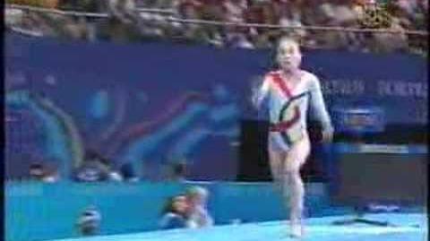 Andreea Raducan - 2000 Olympics Team Finals - Vault 2