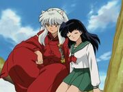 Kagome and Inuyasha in tree