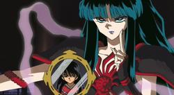 Kaguya seals away Inuyasha's human blood