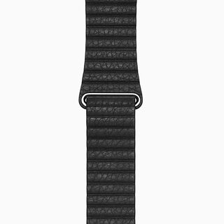 Black Leather Loop Band
