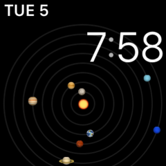Astronomy Solar System Watch Face