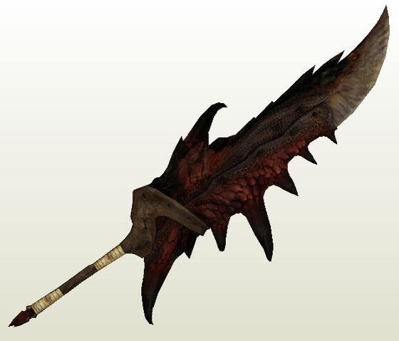File:Monster hunter Ratholos Flame Sword papercraft.jpg