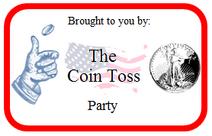 Coin Toss Party Logo