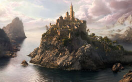 Castle-on-Top-of-an-Island-of-Rock