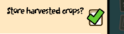 Store harvested crops