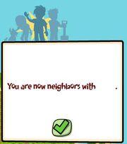 Neighbor added message