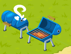 Drum barrel bbq cooking page