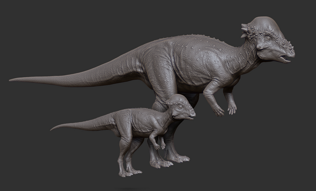 File:Juvenile Pachycephalosaurus Model The Isle.png