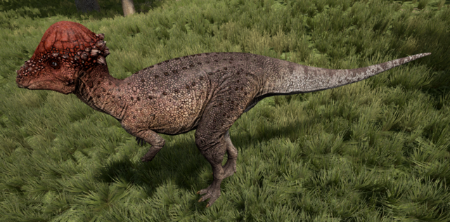 File:Red Pachycephalosaurus The Isle.png