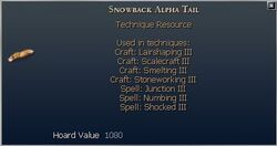 Snowback Alpha Tail