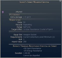 Scout's Spirit Weapon Crystal