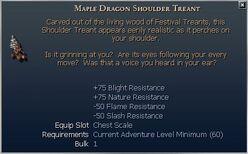 Maple Dragon Shoulder Treant