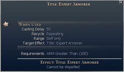 Title Expert Armorer