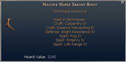 Massive Maple Treant Root