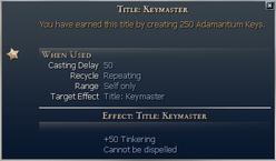 Title Keymaster