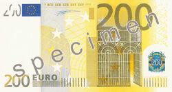 200 euro fronte (2002)