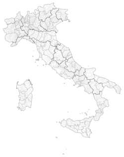 Mappa dei comuni italiani