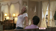 Dee dancing for the rich guy