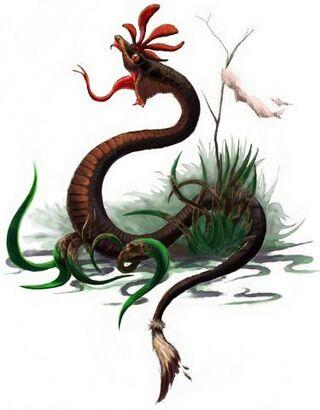Saharan crested snake