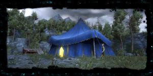 Sabrina's tent