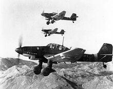 300px-Junkers Ju 87Ds in flight Oct 1943