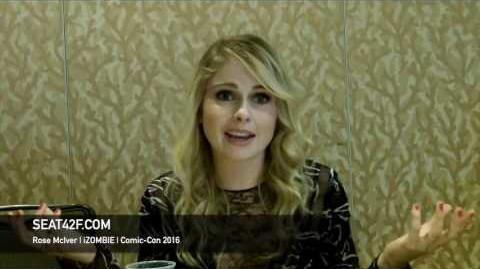 Rose McIver iZOMBIE Interview Comic Con 2016