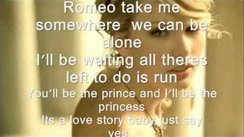 Love story - Taylor swift lyrics