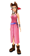 Aerith in Kingdom Hearts