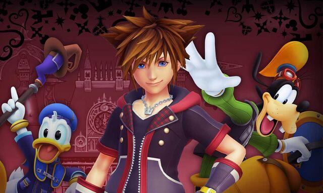 File:Sora, Donald and Goofy Kingdom Hearts III.jpg