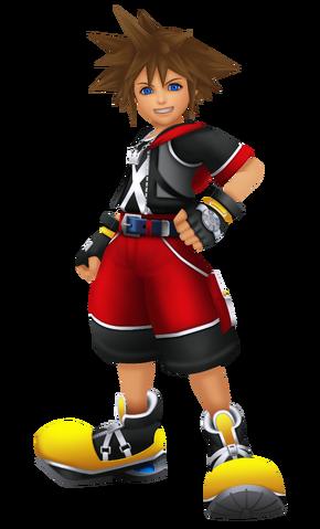 File:Sora in Kingdom Hearts 3D Dream Drop Distance.png