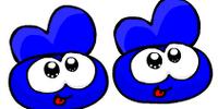 Blue Slippers