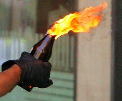 Molotov cocktail flam