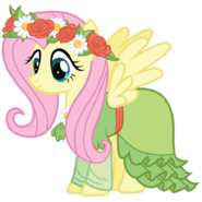 Fluttershy s coronation dress by bethiebo-d5vb8do