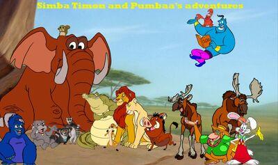 1000px-Simba Timon and Pumbaa's adventures poster 1