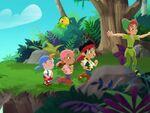 Jake&crew with Peter-Peter Pan Returns