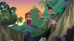 Jake&crew with Pirate Princess-The Never Rainbow