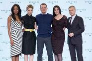 Spectre press conference - Craig, Bellucci, Seydoux, Waltz, Harris