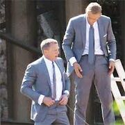 007 Skyfall- Daniel Craig with stunt double Ben Cooke