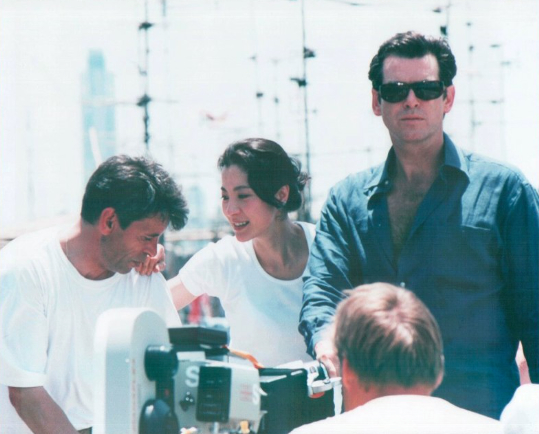 File:007- Dickey Beer on-set of Tomorrow Never Dies with cast.jpg