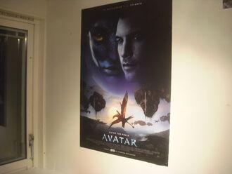 Avtar poster in my home