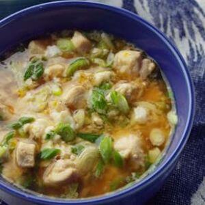 Japanese Chicken Scallion Rice Bowl