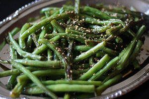 Japanese style sesame green beans