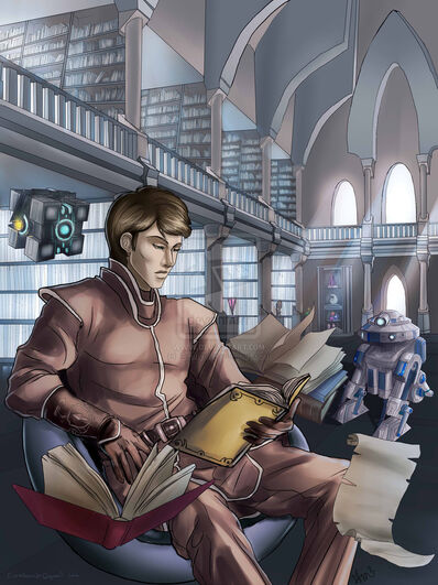 Phylock in the archives by evanyell-d6gykus