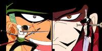 Roronoa Zoro vs Dracule Mihawk