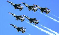 T-birds 6 plane formation 3654w