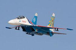 Su-27 low pass
